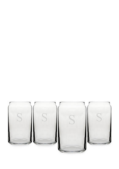 Cathy's Concepts Personalized Craft Beer Can Glasses (Set of 4)