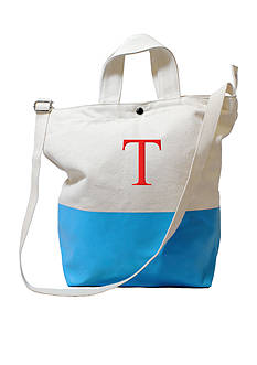 Cathy's Concepts Personalized Aqua Dipped Canvas Tote