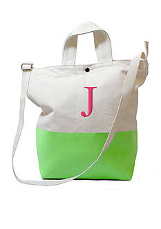 Cathy's Concepts Personalized Kiwi Dipped Canvas Tote