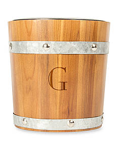 Cathy's Concepts Monogram Rustic Ice Bucket