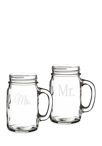 Cathy's Concepts Mr. & Mrs. Old Fashioned Drinking Jar Set