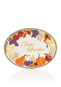 Home Accents® Harvest Give Thanks Platter
