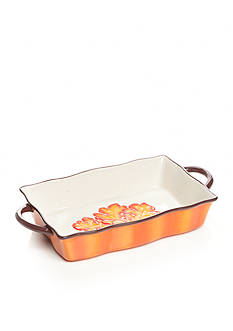 Home Accents® Harvest Leaf Rectangular Baker