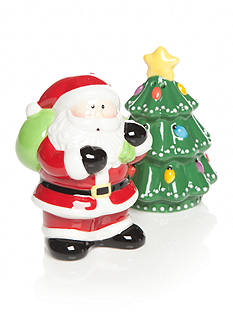 Home Accents Christmas Day Santa and Tree Salt & Pepper Shakers