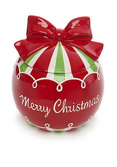 Home Accents Christmas Day Ornament Cookie Jar