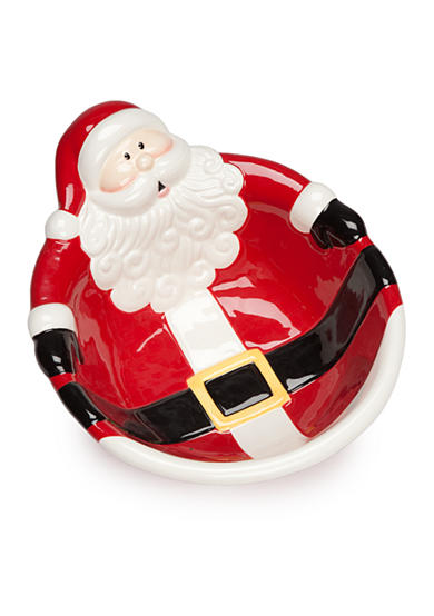 Home Accents® Christmas Day Santa Serving Bowl