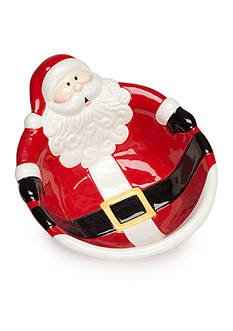 Home Accents Christmas Day Santa Serving Bowl
