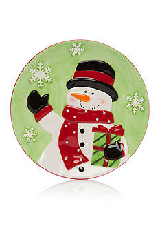 Home Accents Christmas Day Small Snowman Plate