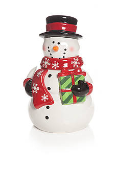Home Accents Christmas Day Snowman Cookie Jar