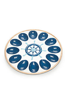 Home Accents® Anchors Aweigh Egg Plate