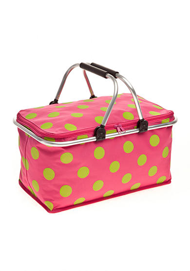 Home Accents® Polka Dot Non-insulated Picnic Basket