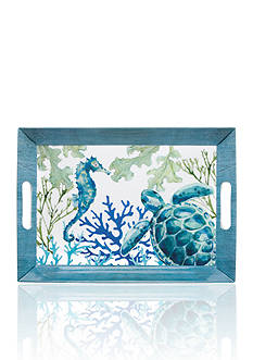Home Accents® Melamine Sea Life Coastal Serving Tray