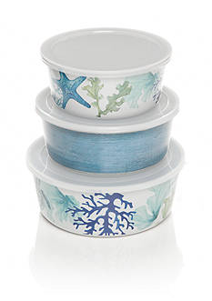 Home Accents® Melamine Sea life Coastal Set of Three Dip Bowls