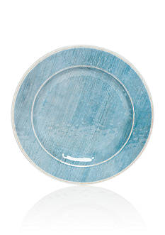 Home Accents® Melamine Blue Coastal Dinner Plate