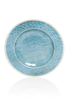 Home Accents® Melamine Blue Coastal Salad Plate