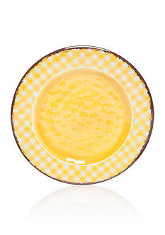 Home Accents® Yellow Gingham Dinner Plate