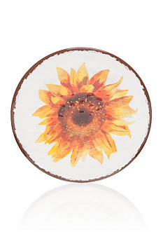 Home Accents® Yellow Gingham & Sunflower Salad Plate