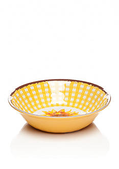 Home Accents® Yellow Gingham Cereal Bowl