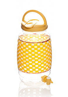 Home Accents® Yellow Gingham Beverage Dispenser