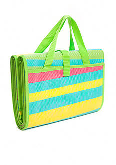 Home Accents Woven Beach Mat - Pink, Yellow & Lime