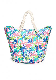 Home Accents® Palm Tree Canvas Beach Tote