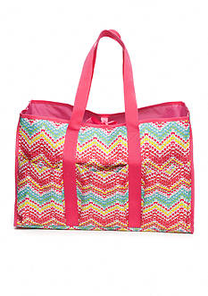 Home Accents® Multi-Pocket Rectangle Chevron Beach Tote