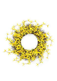 Home Accents® Forsythia Wreath