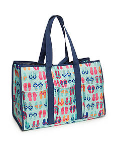 Home Accents Rectangle Tote - Turquoise Flip Flops