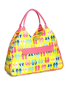 Home Accents Triangle Tote - Yellow Flip Flops