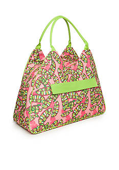 Home Accents Triangle Tote - Turtle Leaves