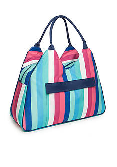 Home Accents Triangle Tote Beach Bag - Color Block