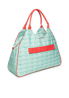 Home Accents Triangle Tote - Turq Neo Geo Waves
