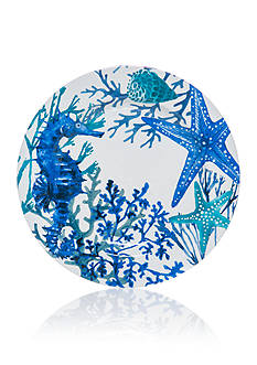 Home Accents® Coral Reef Printed Dinner Plate