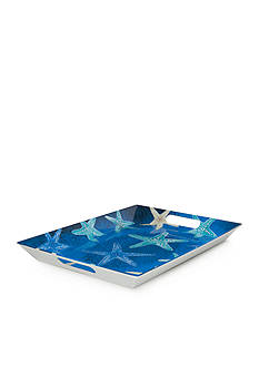 Home Accents® Coral Reef Handle Serving Tray
