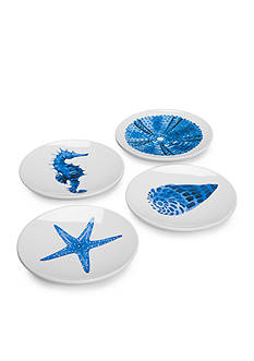 Home Accents® Coral Reef Set of 4 Appetizer Plates