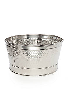 Home Accents Hammered Stainless Round Beverage Tub