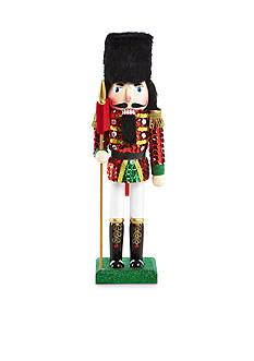 Home Accents® Holiday Traditions Soldier with Flag Nutcracker