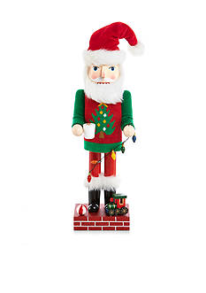 Home Accents® Holiday Traditions Ugly Christmas Sweater Santa Nutcracker