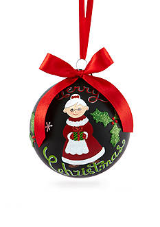 Home Accents Holly Jolly Christmas Mrs. Claus Ball Ornament