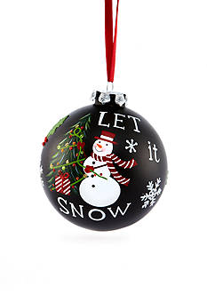 Home Accents Holly Jolly Christmas Snowman Ball Ornament