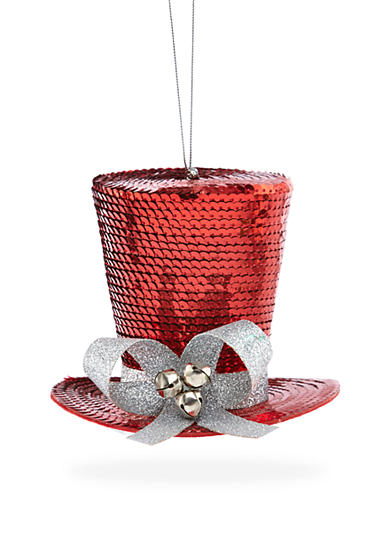 Home Accents® Holly Jolly Christmas Sequin Snowman Hat Ornament