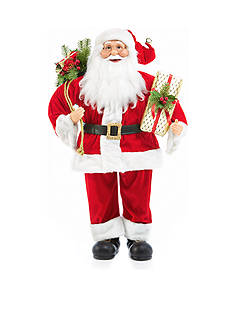 Home Accents 3-ft. Holly Jolly Christmas Traditional Santa