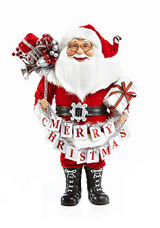 Home Accents® 16-in. Holly Jolly Christmas Santa with Sign