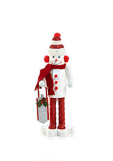 Home Accents® Holly Jolly Christmas 14-in. H Snowman Nutcracker