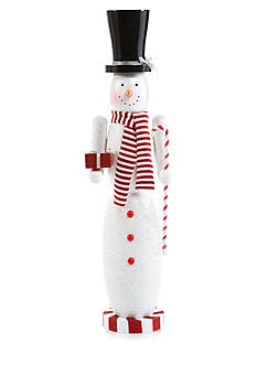 Home Accents Holly Jolly Christmas 36-in. H Top Hat Snowman Nutcracker
