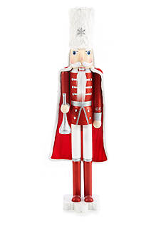 Home Accents Holly Jolly Christmas 48-in. Soldier with Cape Nutcracker