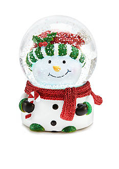 Home Accents Holly Jolly Christmas Snowman Snowglobe