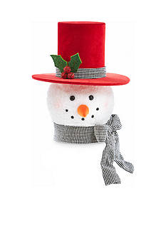Home Accents Holly Jolly Christmas Snowman Head Treetopper