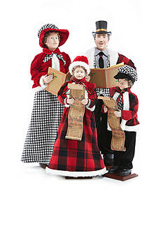 Home Accents Holly Jolly Christmas Caroler Family Set of 4