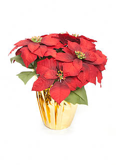 Home Accents Holly Jolly Christmas Potted Poinsettia